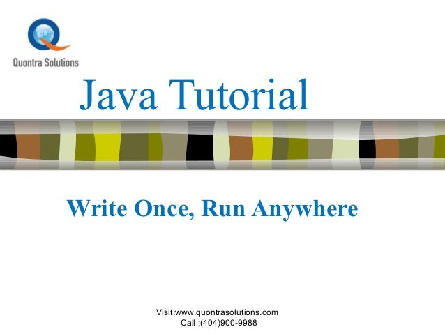 Java Programming Course By Quontra Solutions