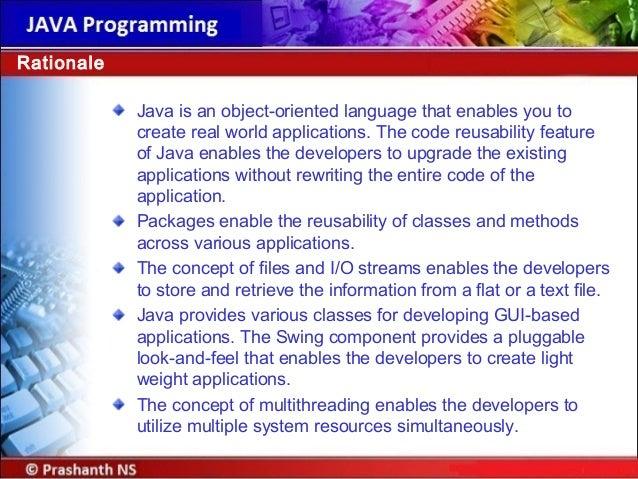 java an object oriented programming language pdf