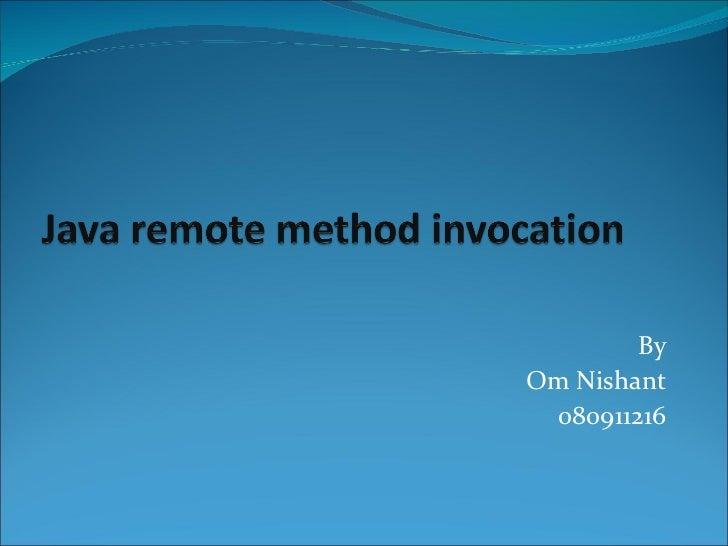 Java remote method invocation