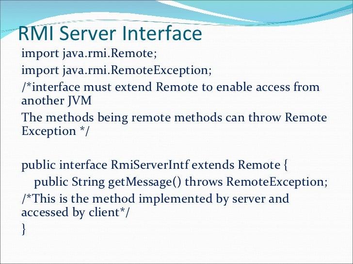 java remote method invocationForgot Password