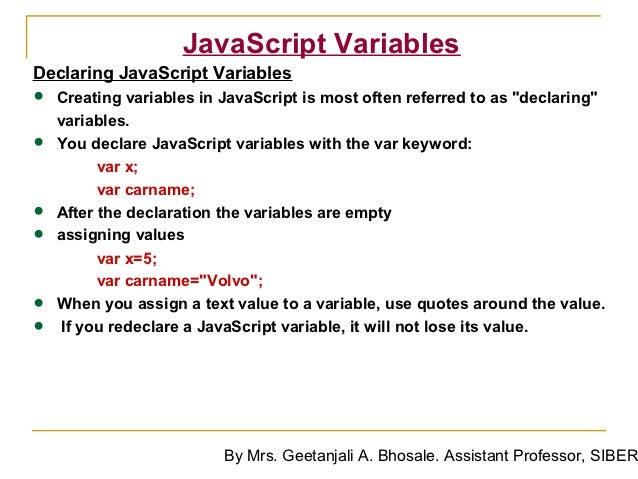 how to get java varibles in javascript