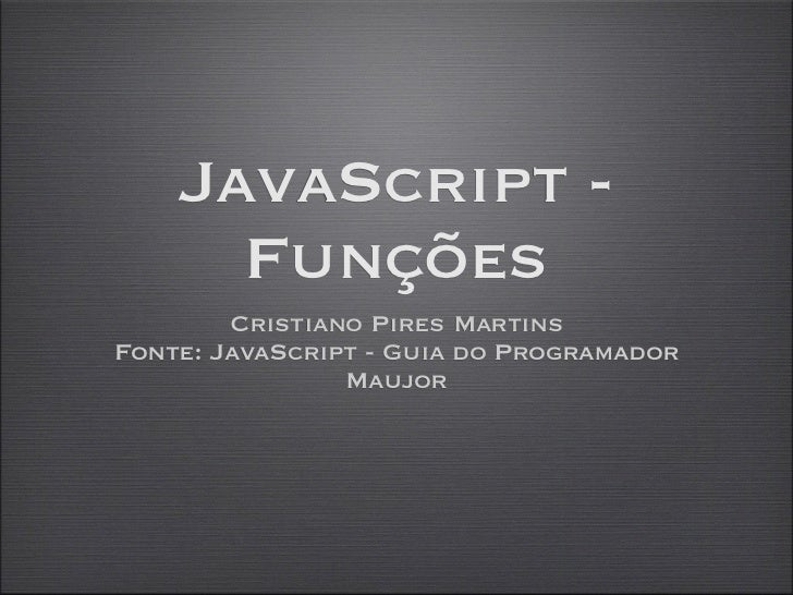 Java script   aula 05 - funções