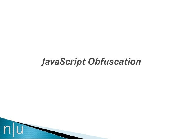 Java script obfuscation
