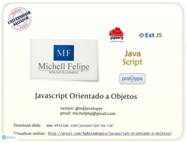 Javascript e Orientação a Objetos - Palestra UNIFACS