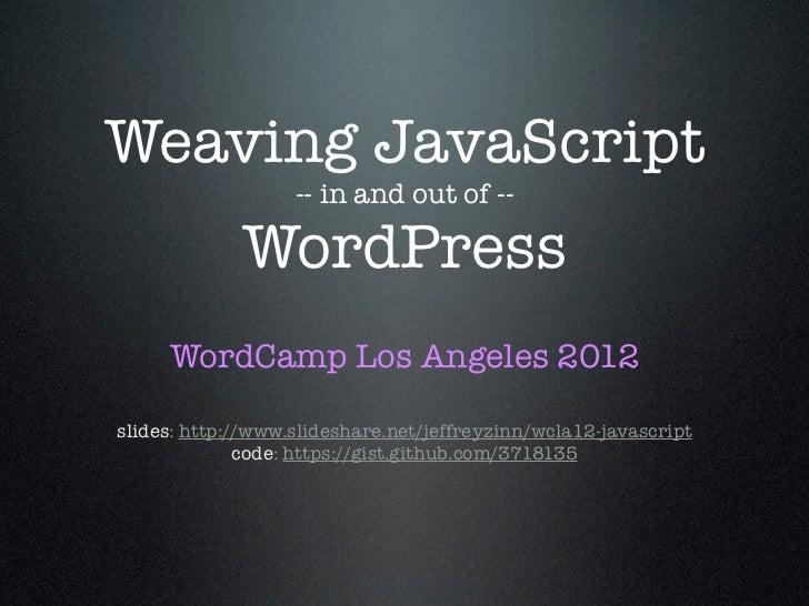 WCLA12 JavaScript