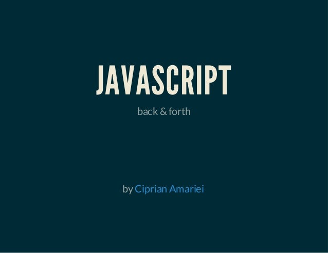JAVASCRIPT back &forth byCiprian Amariei