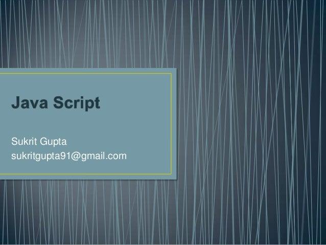 Java Script basics and DOM