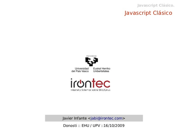 Javascript Clásico