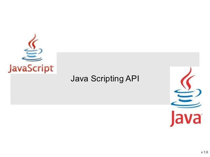 Java scripting api