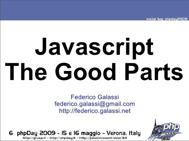 Javascript The Good Parts v2