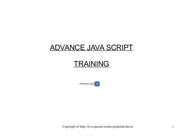Javascript training sample