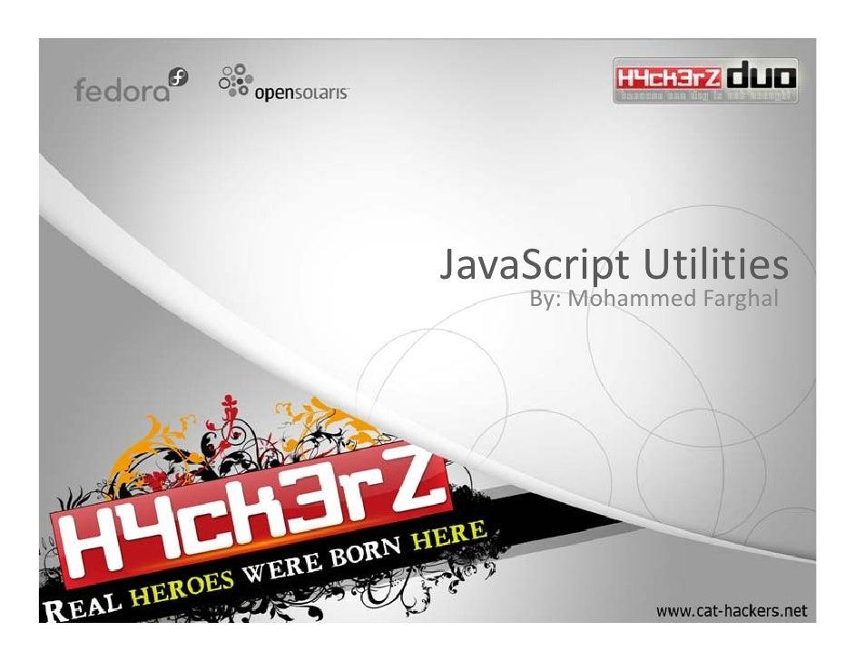 JavaScriptUtilities      By:MohammedFarghal
