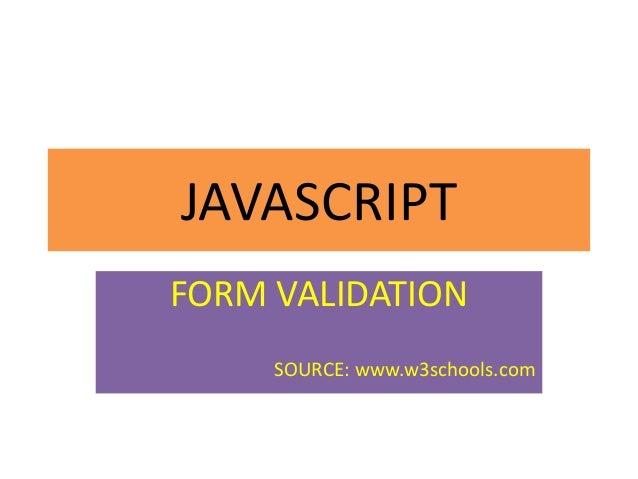 Javascript validating form