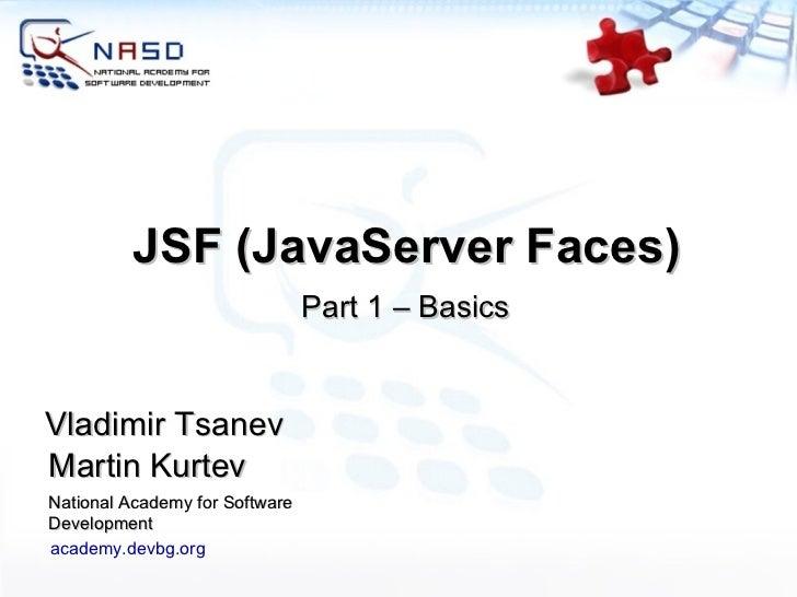 Java Server Faces (JSF) - Basics