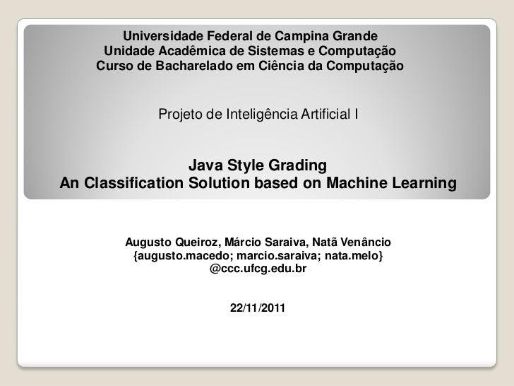 Universidade Federal de Campina Grande     Unidade Acadêmica de Sistemas e Computação    Curso de Bacharelado em Ciência d...