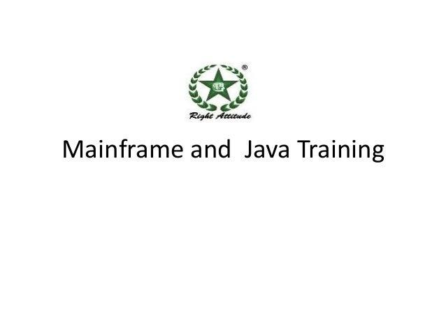 Mainframe and Java Training