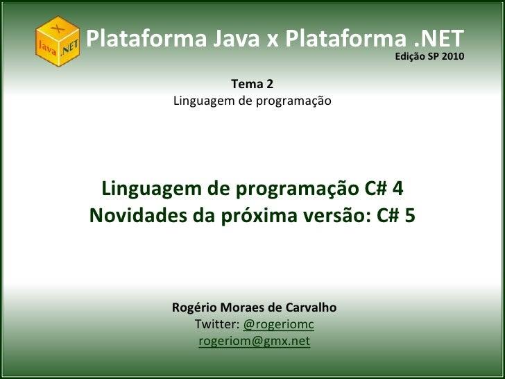 Linguagem de programação C# 4 e 5