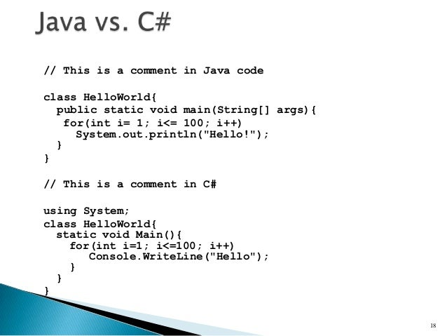 java vs net Simplicity their relative simplicity is their prime attraction as an introductory programming language safety java and c# were designed to be robust.