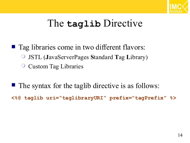 JSP - JSTL Custom Tag Library - CodeProject