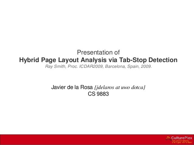 """Presentation of """"Hybrid Page Layout Analysis via Tab-Stop Detection"""""""