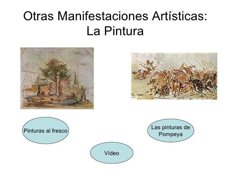 Otras Manifestaciones Artísticas: La Pintura Pinturas al fresco Las pinturas de Pompeya Vídeo