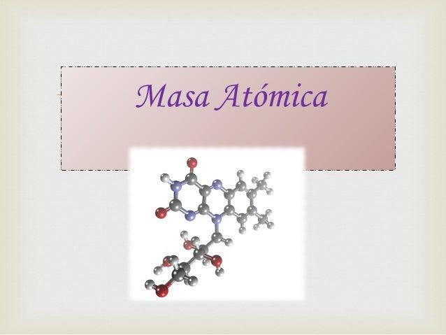 Masa Atómica