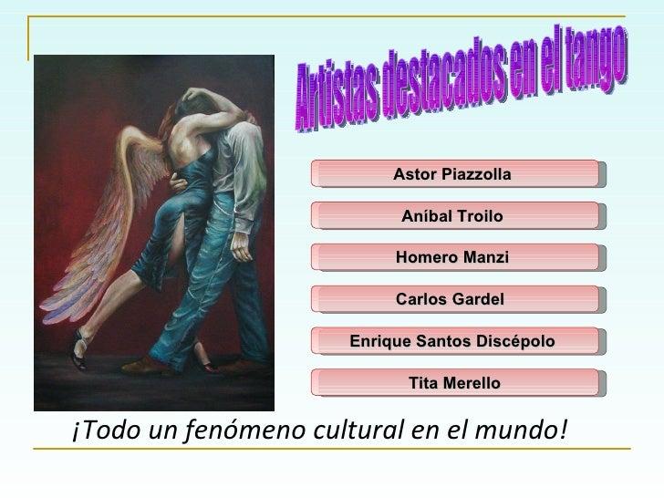 Astor Piazzolla   ¡Todo un fenómeno cultural en el mundo! Artistas destacados en el tango Aníbal Troilo   Homero Manzi   C...