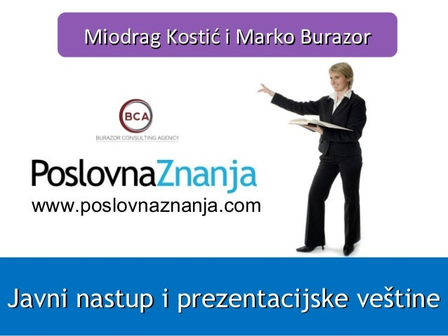 Javni nastup i prezentacijske veštine trening Poslovna Znanja