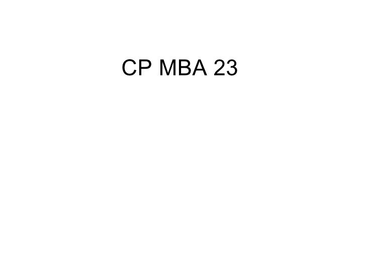 CP MBA 23