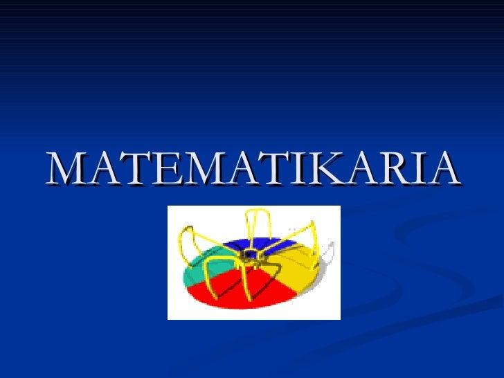 MATEMATIKARIA