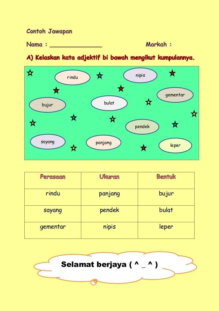 Jawapan Latihan Kata Adjektif
