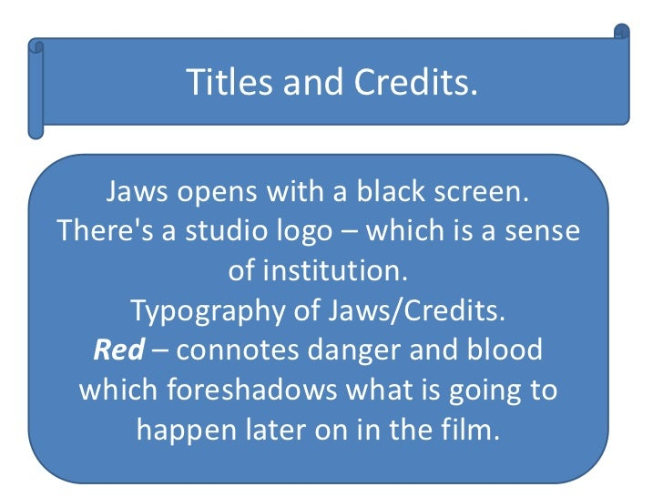 notes on jaws essay