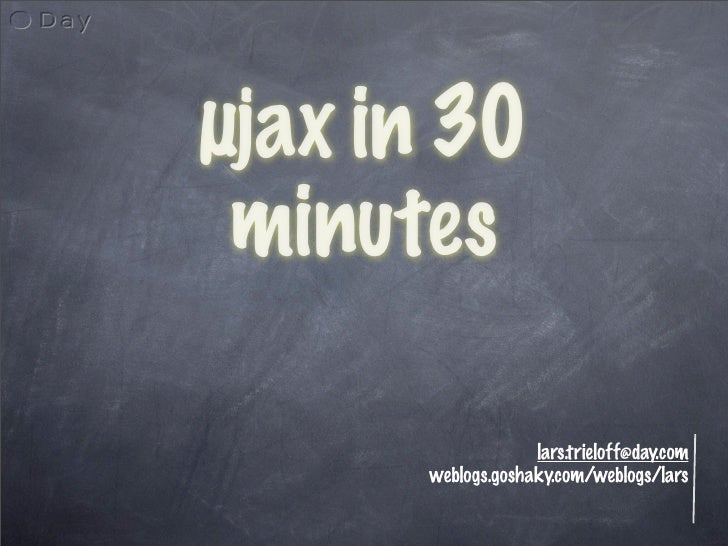 µjax in 30 minutes (for Stockholm)