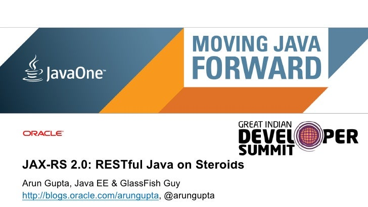 GIDS 2012: JAX-RS 2.0: RESTful Java on Steroids