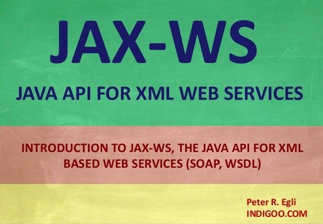 Java API for XML Web Services (JAX-WS)