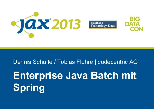 Enterprise Java Batch mit Spring