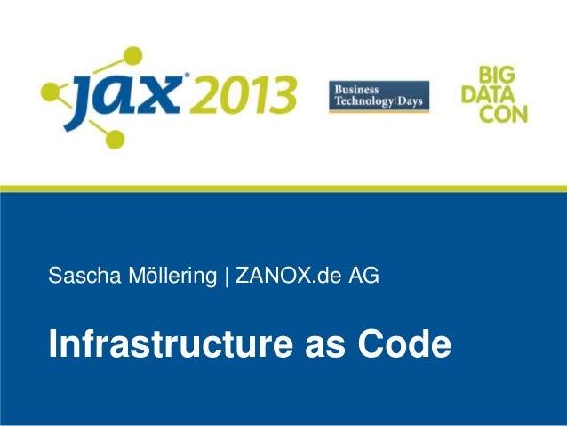 Sascha Möllering | ZANOX.de AGInfrastructure as Code