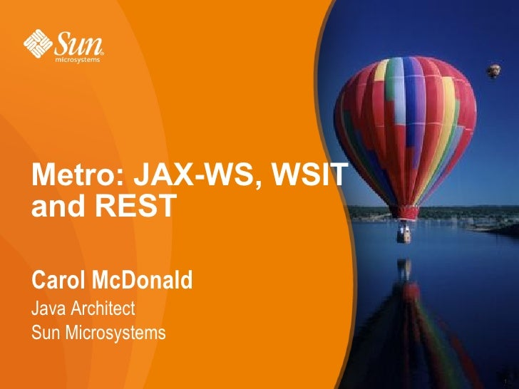 Interoperable Web Services with JAX-WS