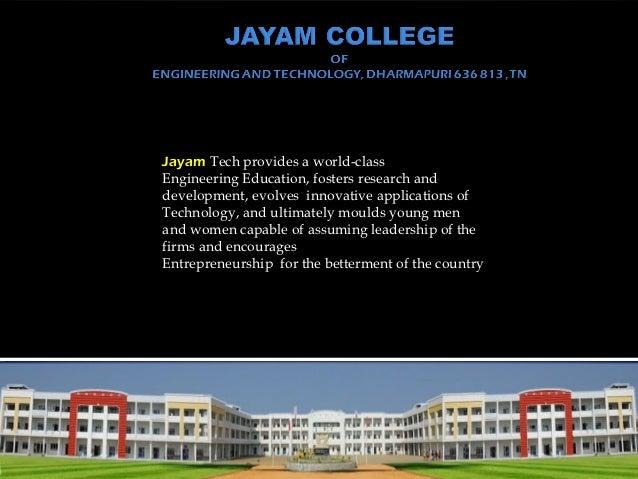 Jayam profile ppt 2011 12