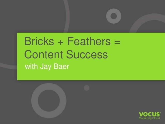Jay Baer Bricks and Feathers Content Marketing Vocus Webinar