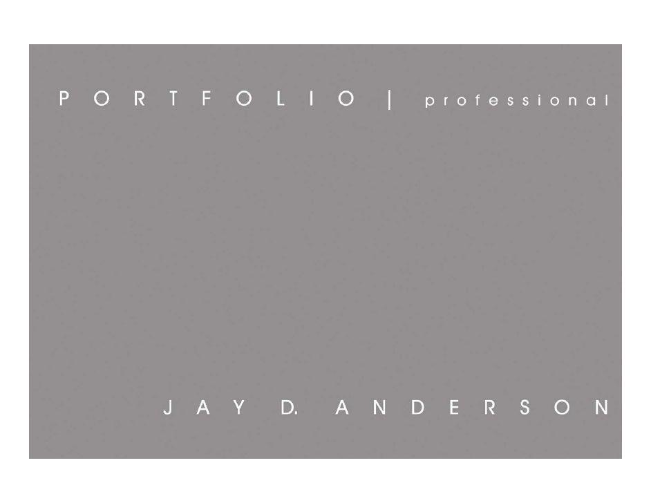 Jay D. Anderson_Professional Portfolio