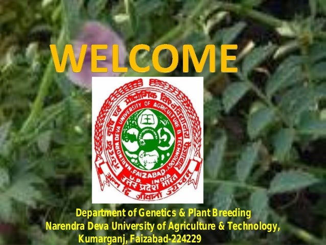 Department of Genetics & Plant BreedingNarendra Deva University of Agriculture & Technology,Kumarganj, Faizabad-224229