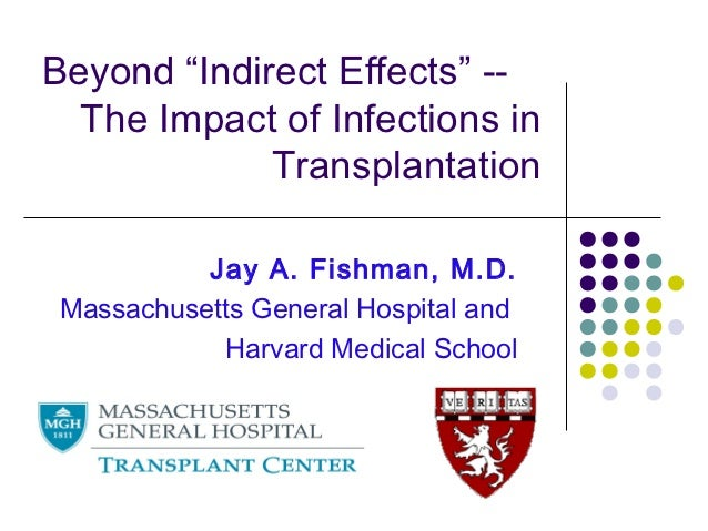 """Beyond """"Indirect Effects"""" --  The Impact of Infections in             Transplantation           Jay A. Fishman, M.D. Massa..."""