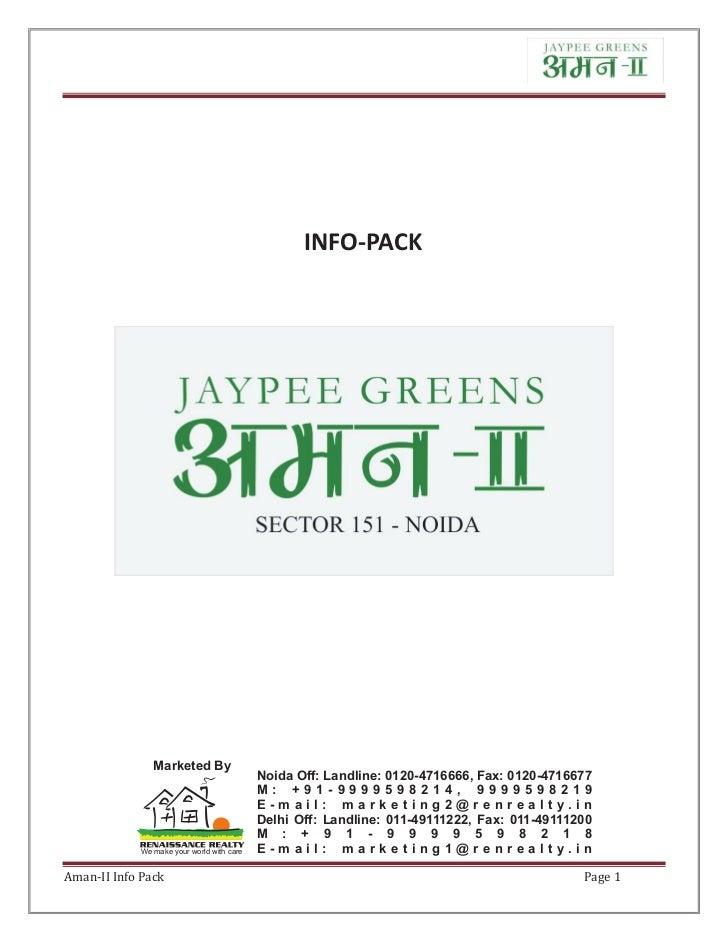 Jaypee Greens Aman ii  2 & 3 bhk luxury apartments in noida - properties in noida