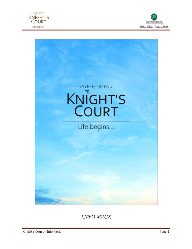 INFO-PACK  Knight's Court – Info Pack               Page 1