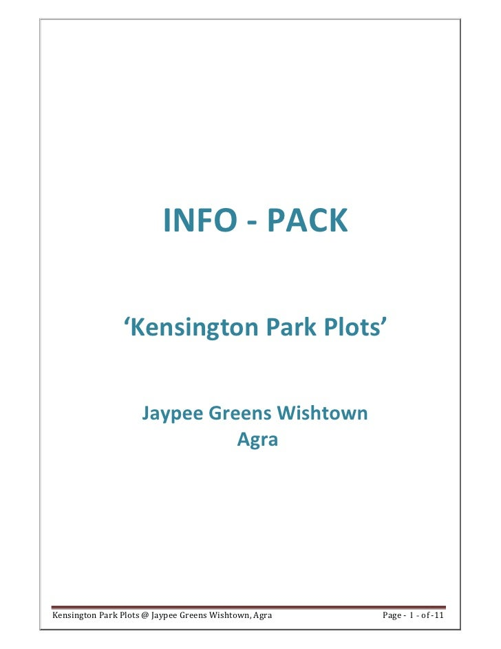 Jaypee plots wish town kensington park agra call 09958959555