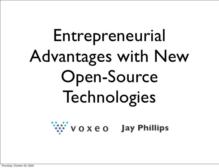 Entrepreneurial                       Advantages with New                          Open-Source                           T...