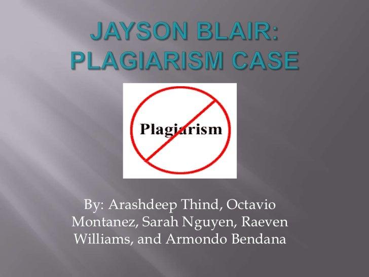 Jayson Blair Plagiarism PowerPoint