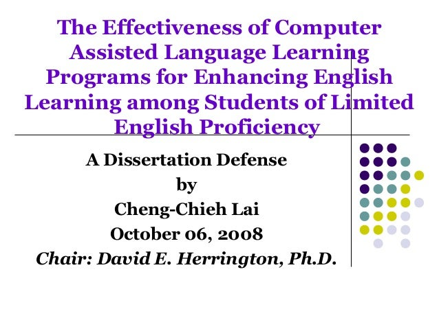 Dr. David E. Herrington, Dissertation Chair for Cheng Chieh Lai, PhD Dissertation Defense PPT.