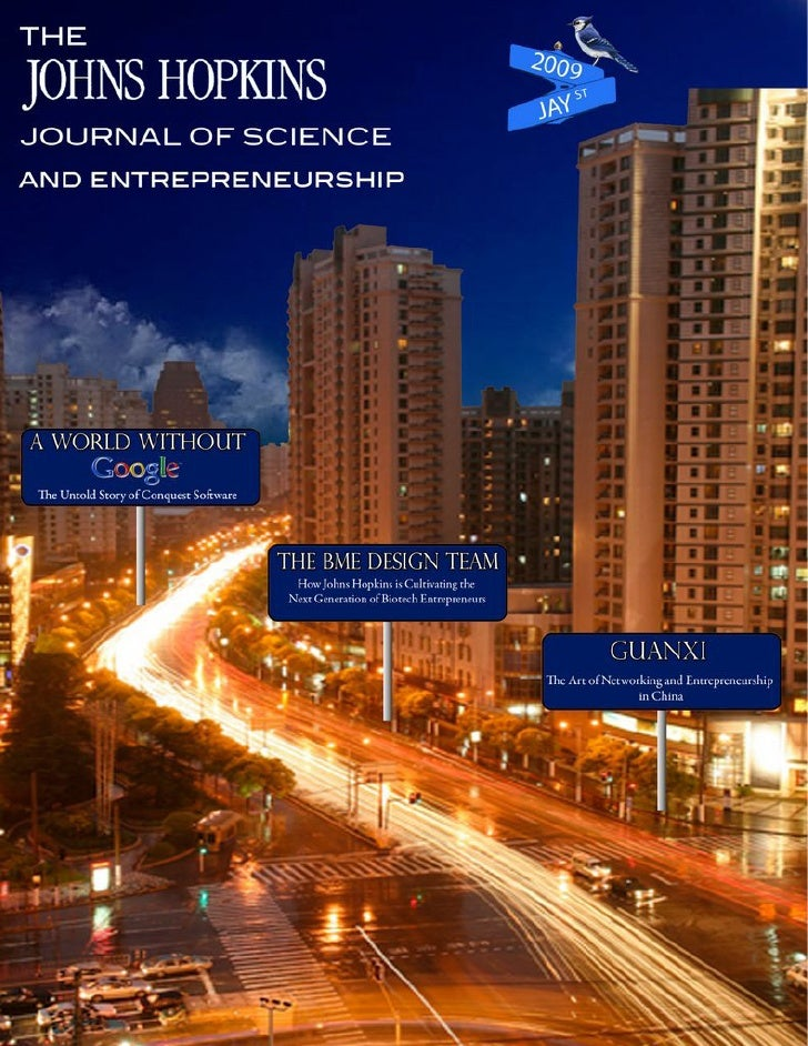 The Johns Hopkins Journal of Science and Entrepreneurship 2009